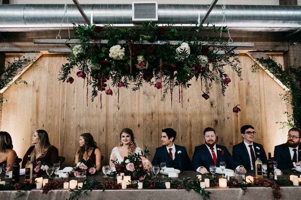 Wine Themed Wedding Flowers - Fall Wedding at Hawthorn Estates