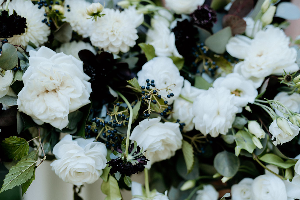 Modern White and Black Wedding Flowers - Wedding Florists in Winnipeg