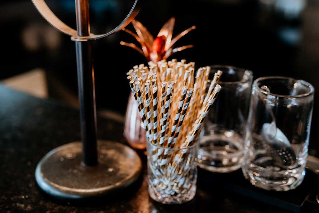 Copper Wedding Straws - Modern Wedding Ideas