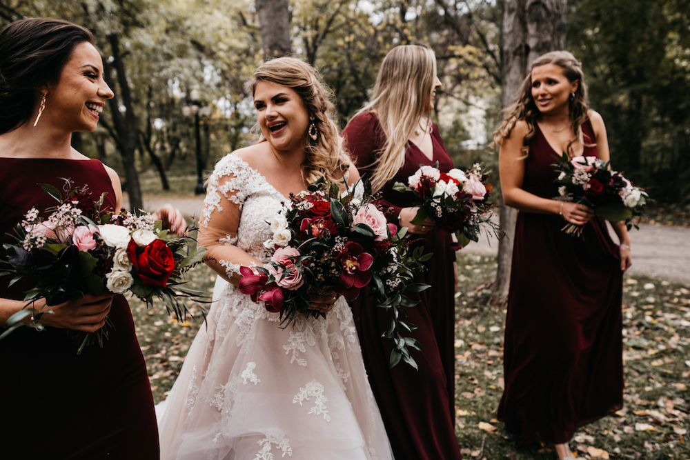 Burgundy Fall Wedding Ideas - Weddings at Hawthorn Estates, Manitoba