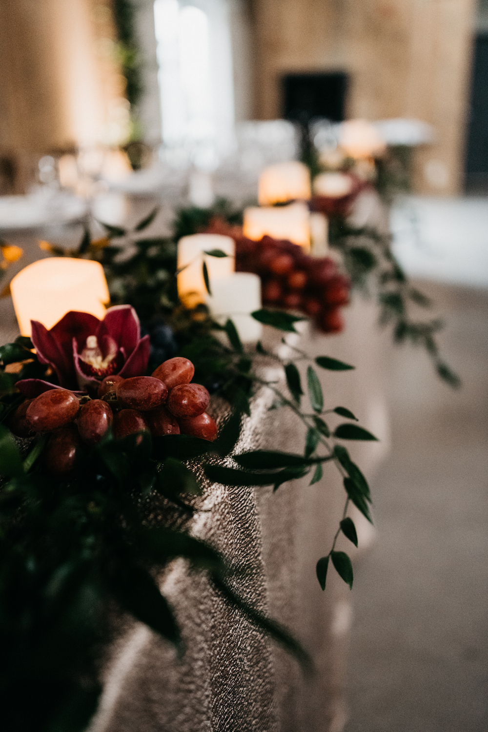 Grape Wedding Decor Ideas - Fall Wedding Flowers