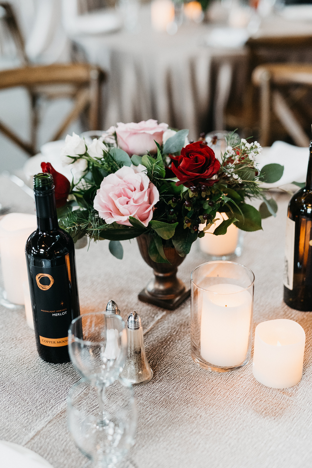 Wine-Inspired Wedding Centrepieces - Wedding Florists Winnipeg