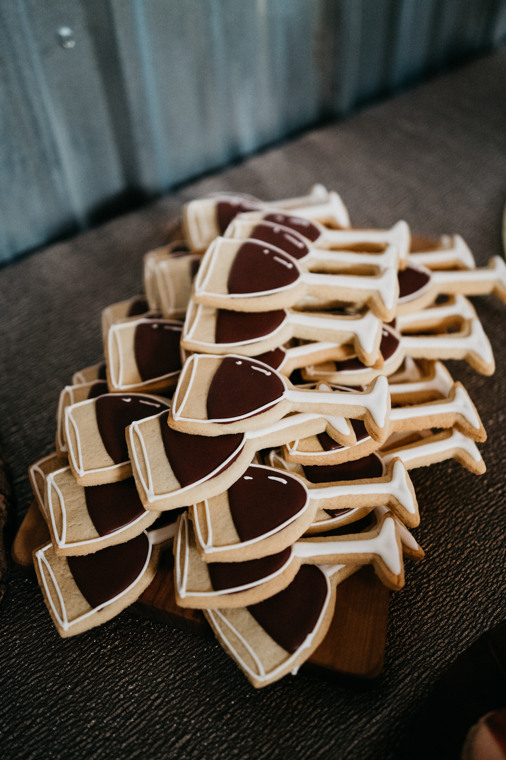 Wine Inspired Wedding Ideas - Custom Cookies from High Tea Bakery