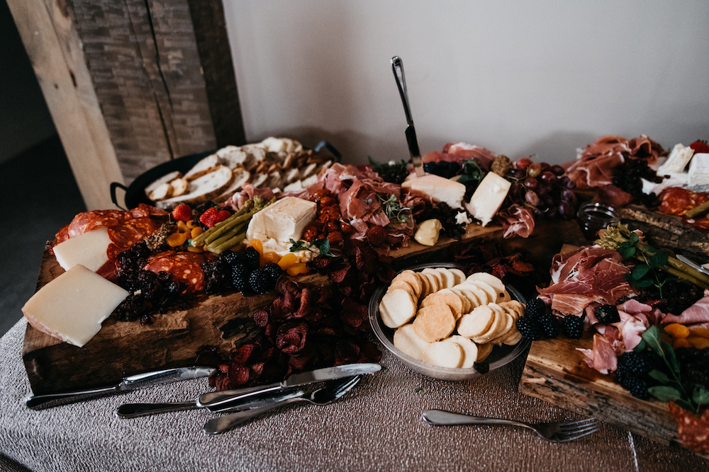 Charcuterie Display at Wedding - CHEW Catering in Winnipeg