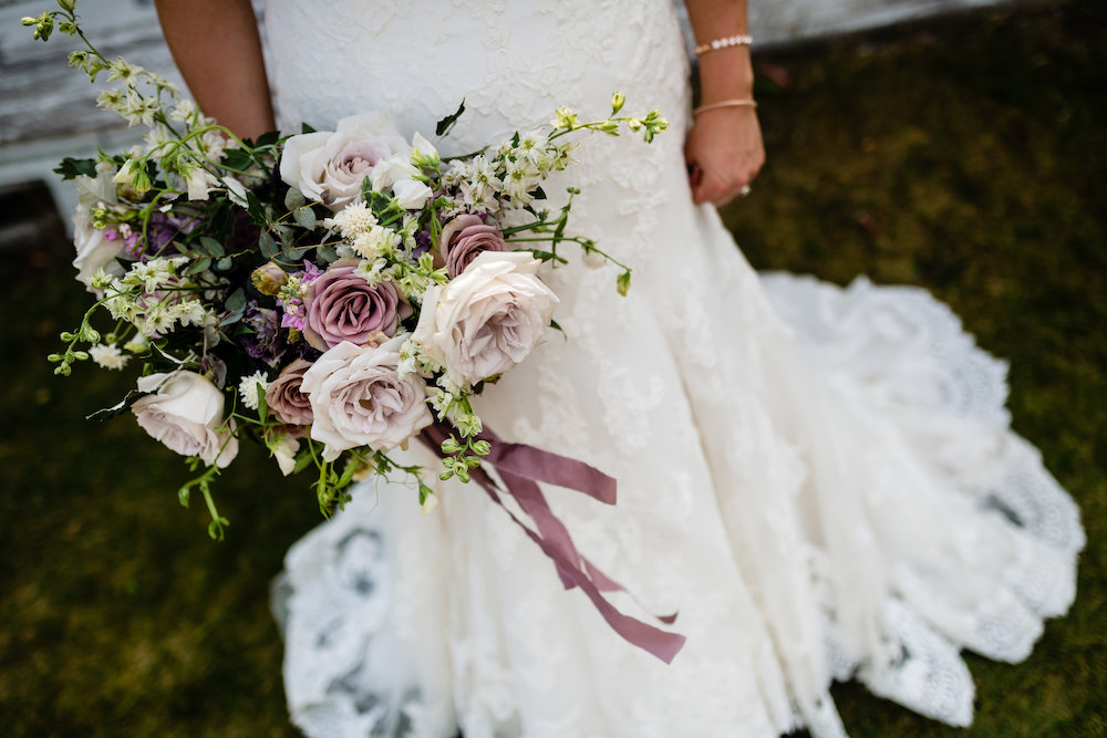 Mauve and Lavender Bridal Bouquet - Wedding Florists in Winnipeg