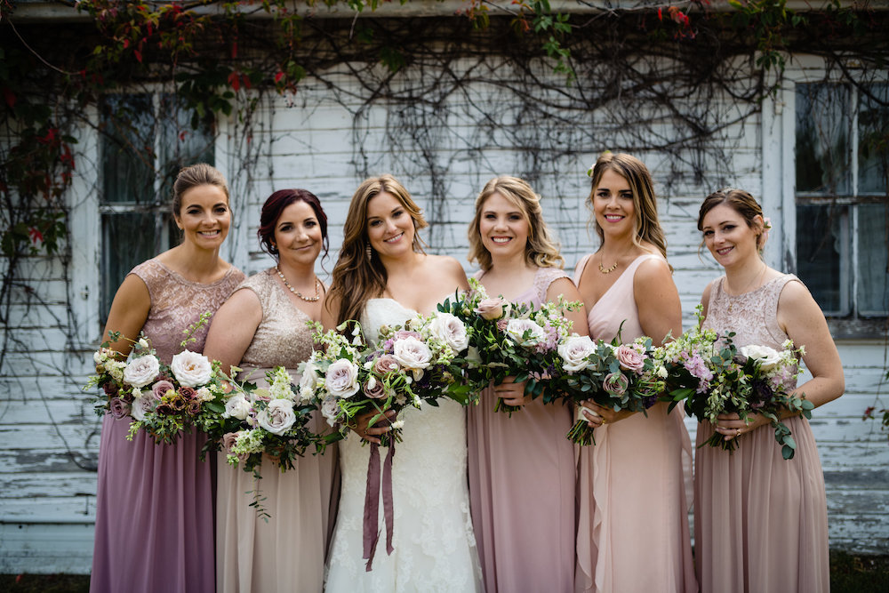 Mauve Wedding Flower Ideas - Cielo's Garden Weddings