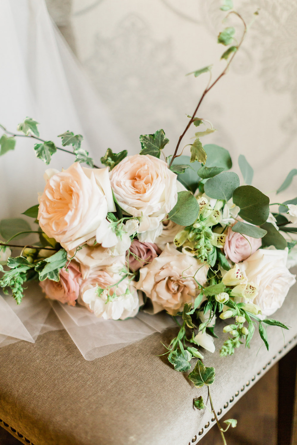 Classic Blush and Cream Bridal Bouquet - Stone House Creative Winnipeg