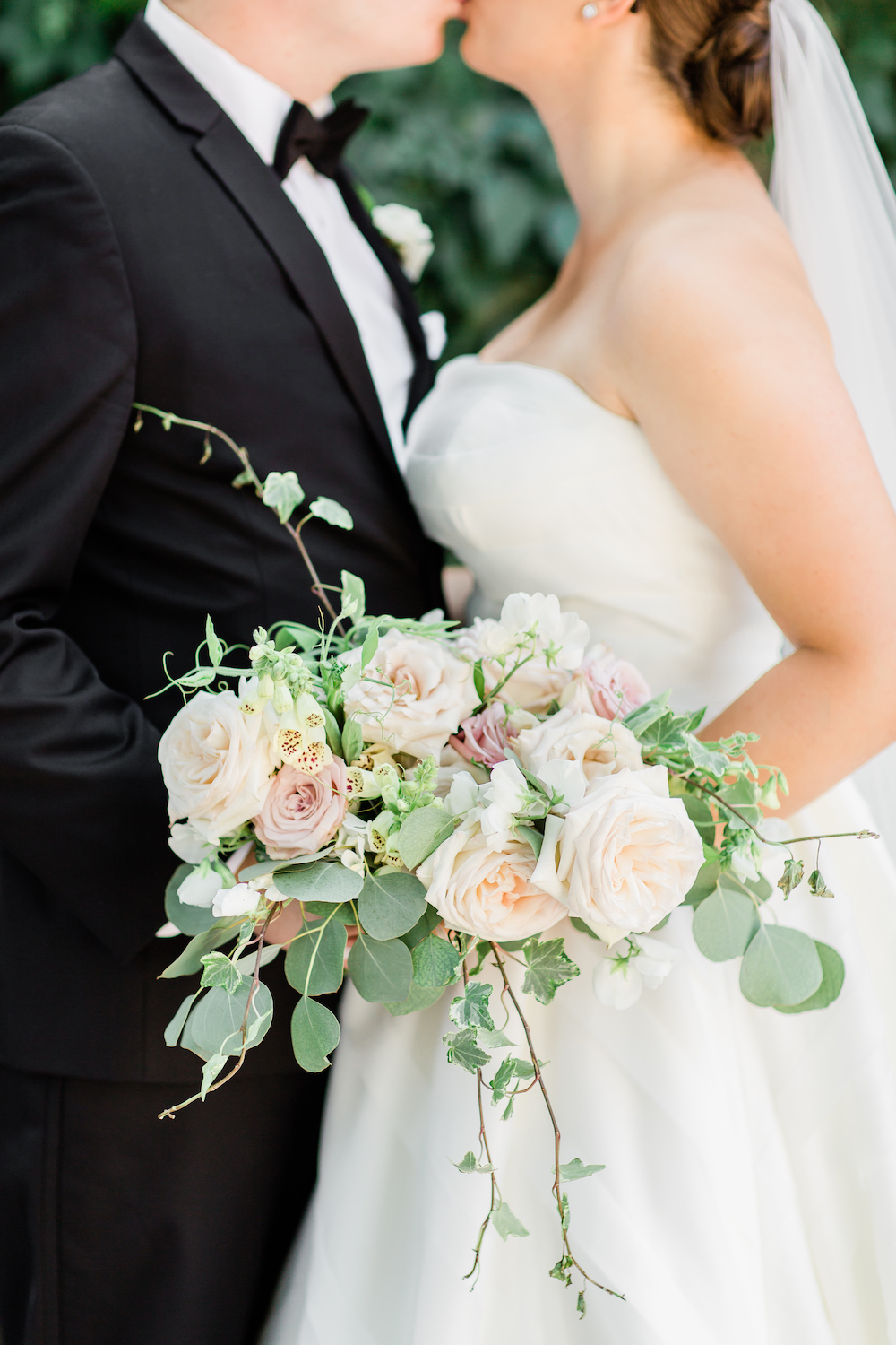 Garden Inspired Blush and Sage Bridal Bouquet - Wedding Flowers Winnipeg