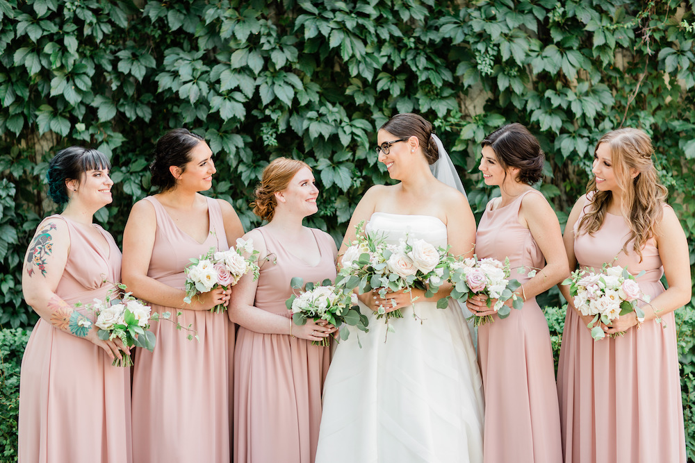 Elegant Blush and Sage Wedding Flowers - Winnipeg's Top Wedding Florist