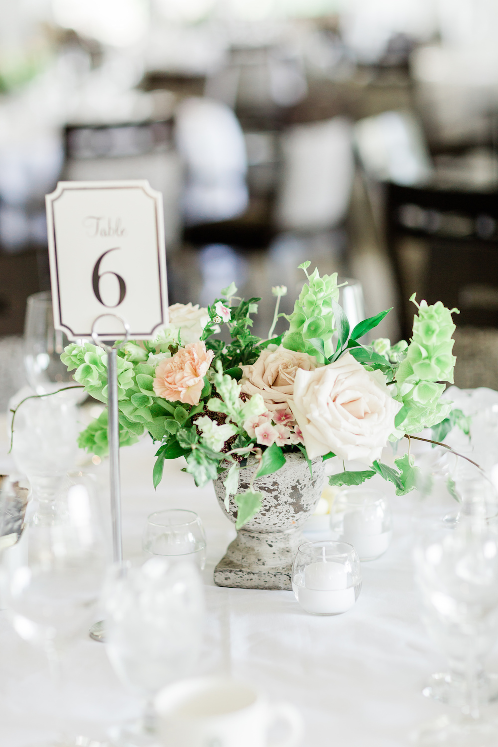 Garden Inspired Wedding Centrepiece - Wedding Flowers winnipeg