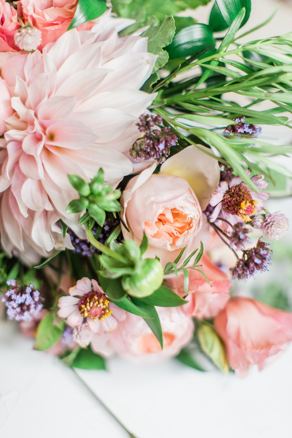 Peach and Lavender Bridal Bouquet - Wedding Florists in Winnipeg