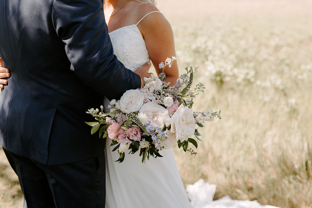 Blush and Cream Bridal Bouquet - Wedding Florist in Winnipeg