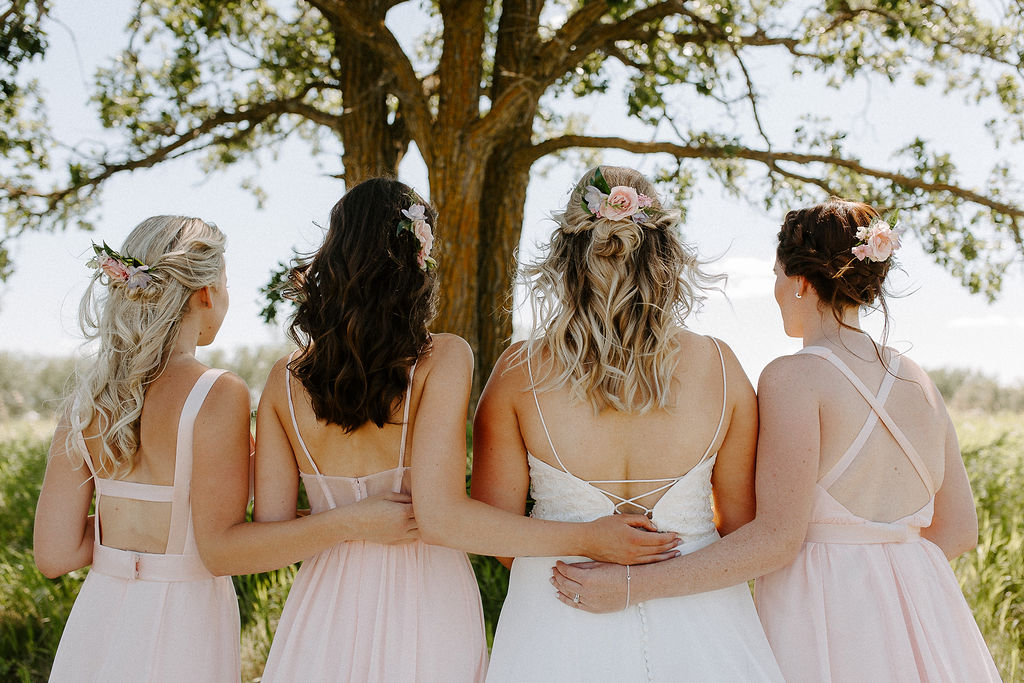 Floral Hair Pieces for Bridesmaids - Winnipeg Wedding Flowers