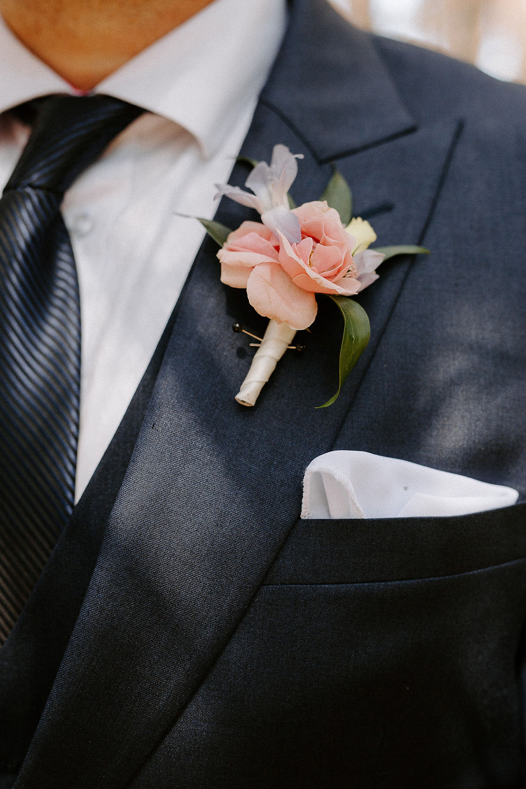 Pink Majolica Spray Rose Boutonniere - Winnipeg Wedding Florist