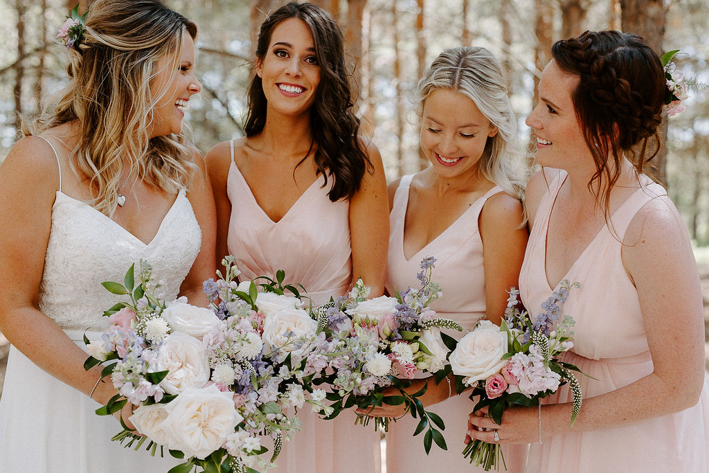 Feminine Blush and Cream Wedding Flowers - Weddings at Pineridge Hollow