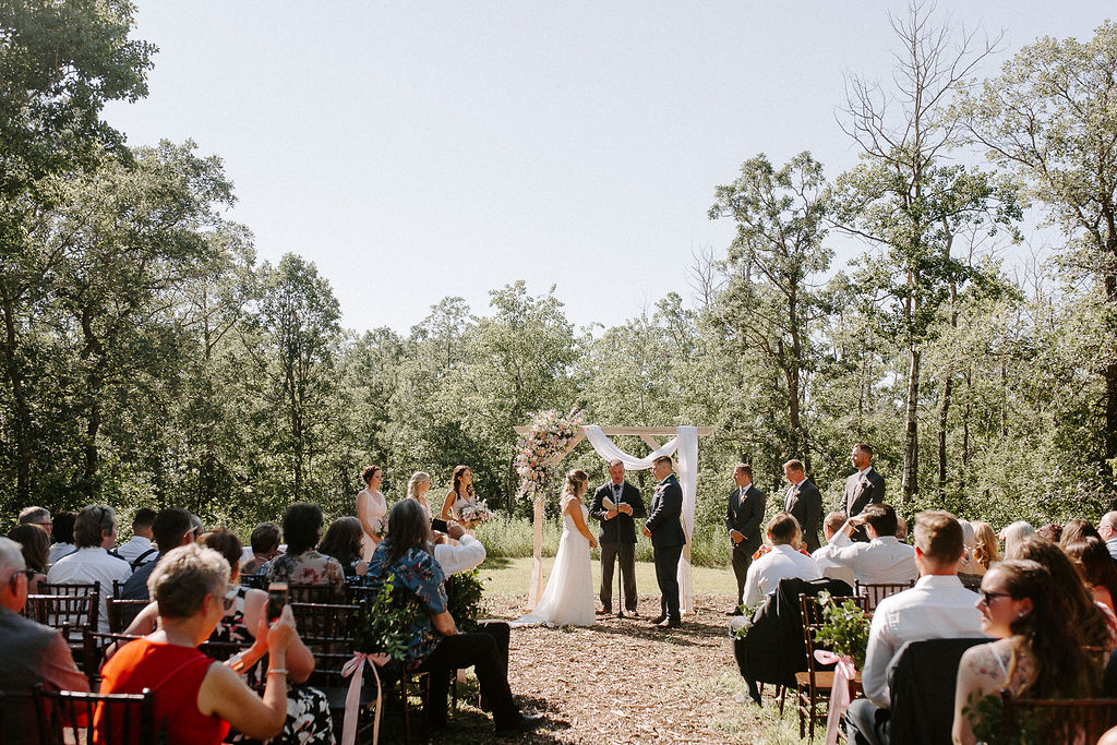 Outdoor Weddings at Pineridge Hollow - Stone House Creative