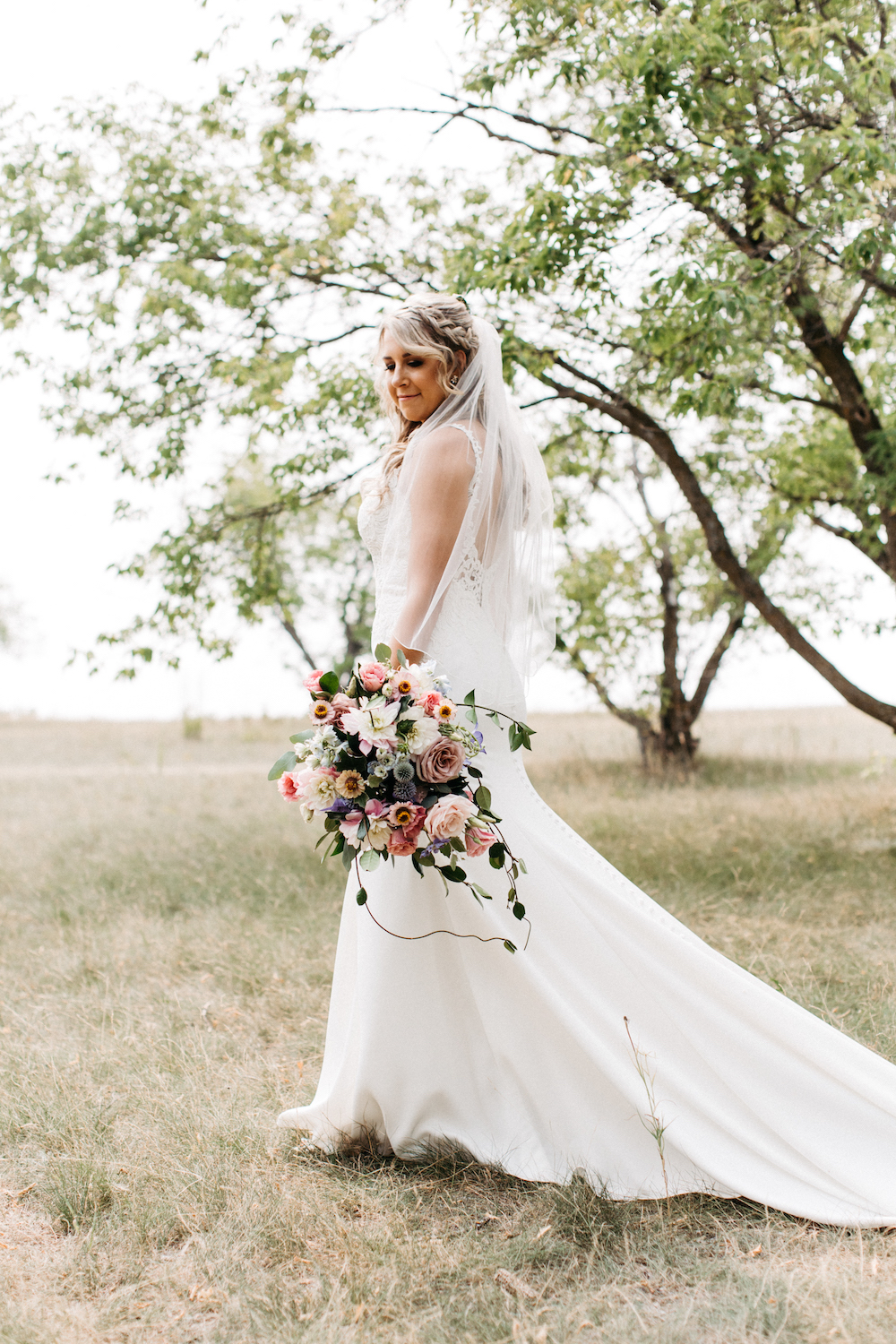 Modern Cascading Bouquet - Romantic Wedding Flowers Winnipeg