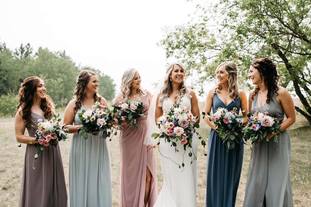 Oyster Palette Bridesmaid Dresses - Weddings in Winnipeg