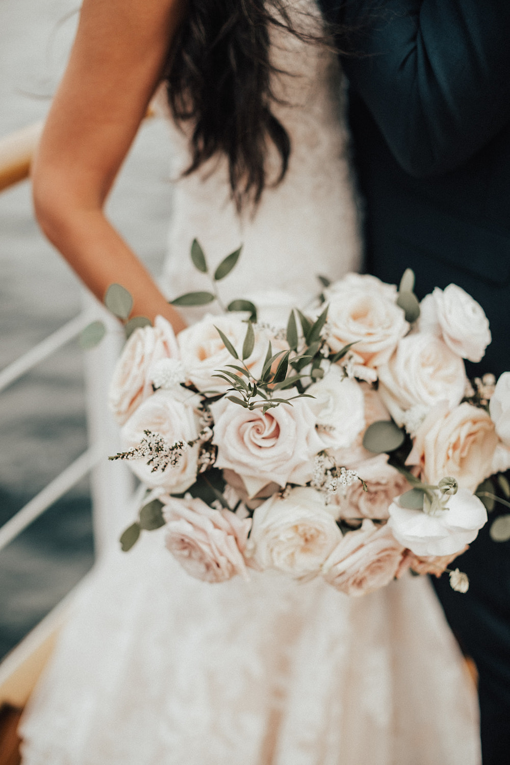 Blush and Cream Bridal Bouquet - Wedding Flowers in Kenora