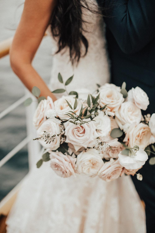 Blush and Cream Bridal Bouquet - Wedding Flowers in Kenora