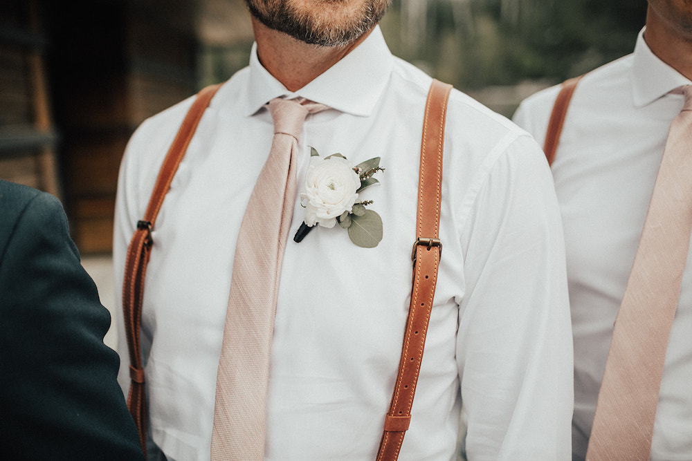 White Ranunculus Boutonniere - Classic Wedding Flower Ideas