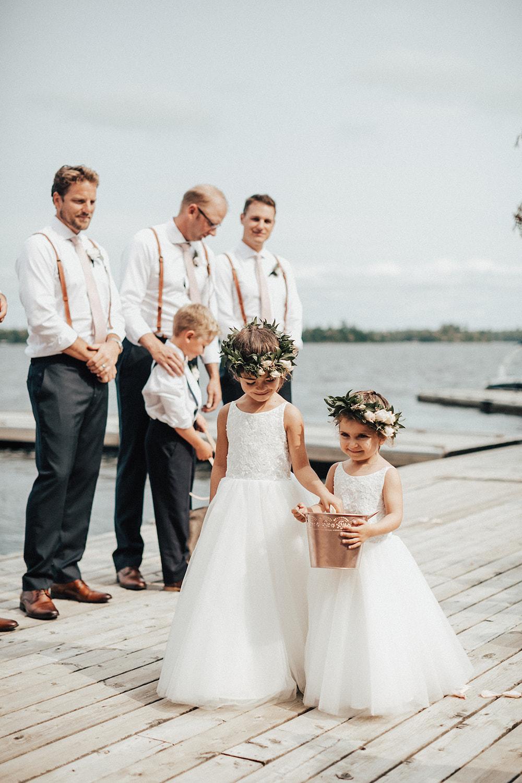 Flower Girl Floral Halos - Wedding Flowers Winnipeg