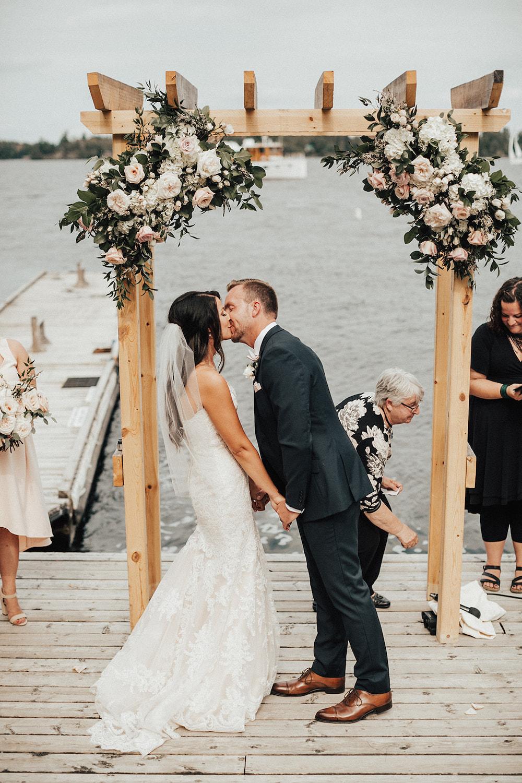 Lush Wedding Arch Flowers - Stone House Creative