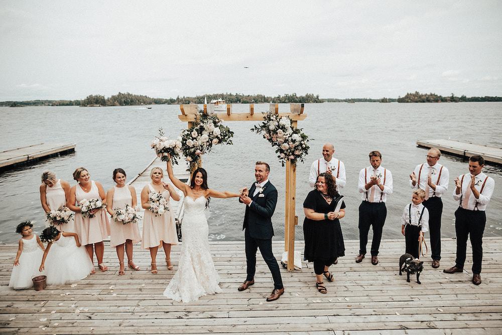 Garden Inspired Wedding Ceremony FLowers - Blush and Cream Wedding Flowers