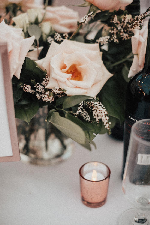 Quicksand Rose Centrepiece - Wedding Flowers Winnipeg