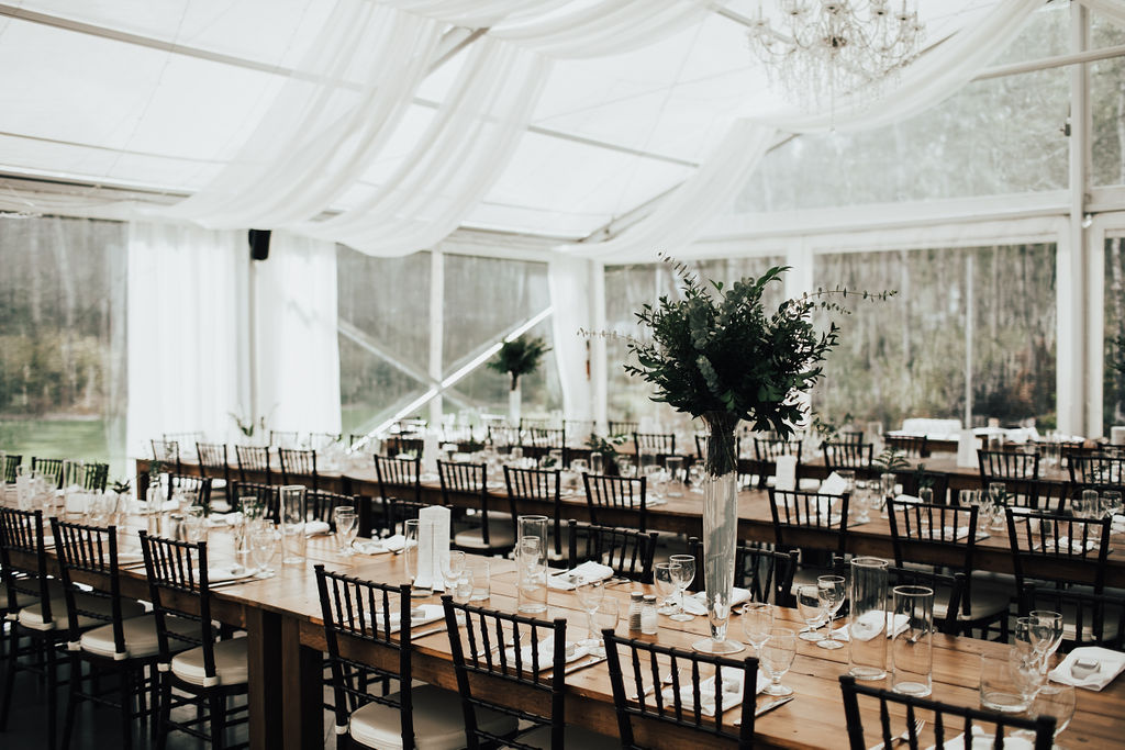 Cielo's Garden Weddings - Tall Greenery Wedding Centrepieces