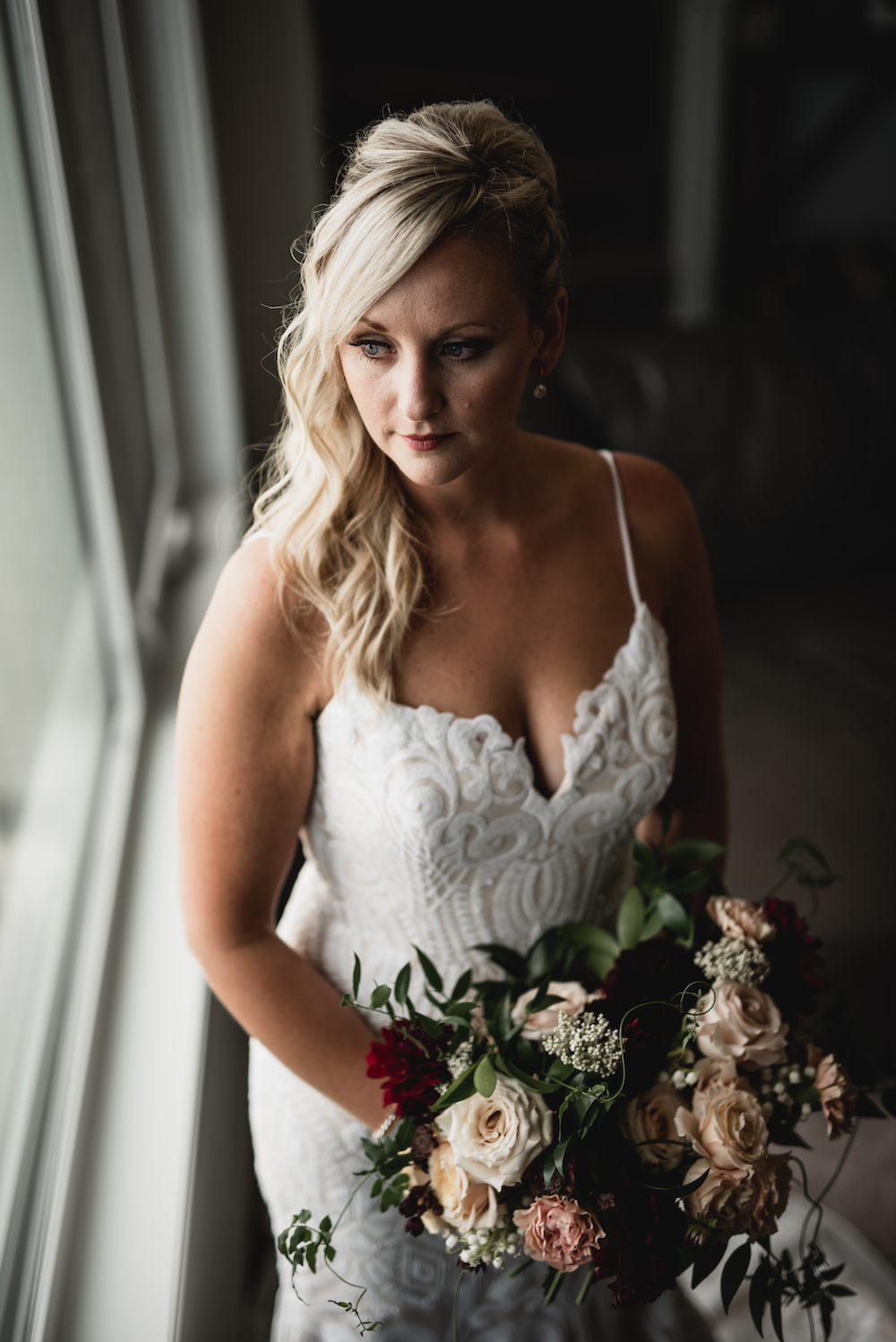 Burgundy and Gold Fall Wedding - Wedding Flowers winnipeg