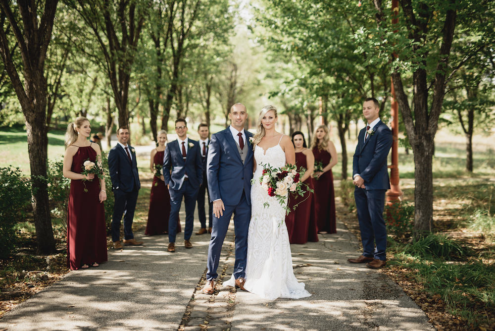 Burgundy and Navy Wedding Ideas - Wedding Flowers Winnipeg