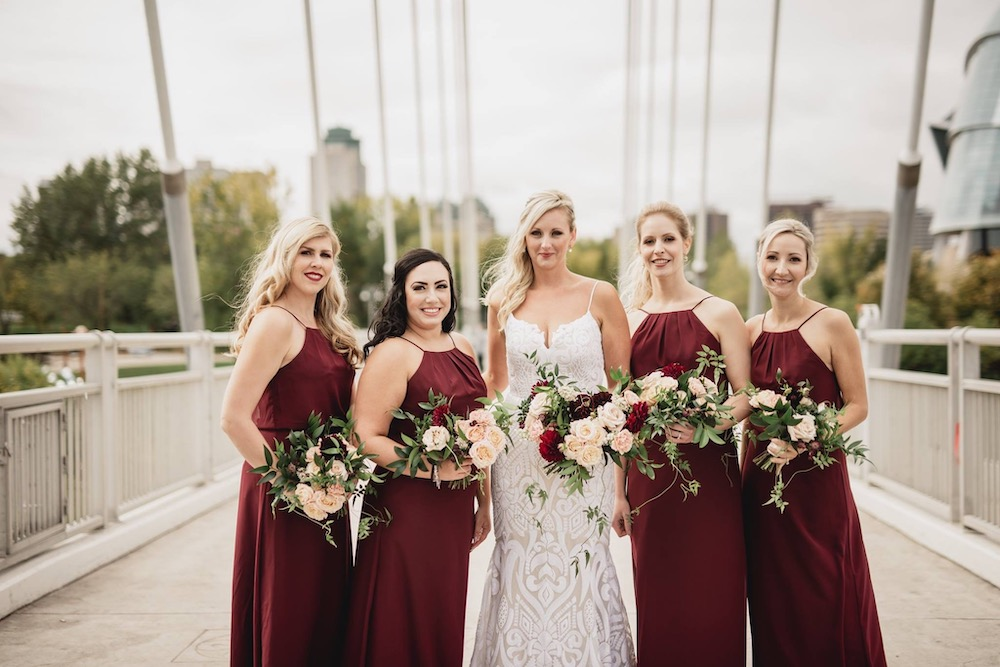 Burgundy and Blush Wedding Ideas - Garden Style Wedding Flowers in Winnipeg