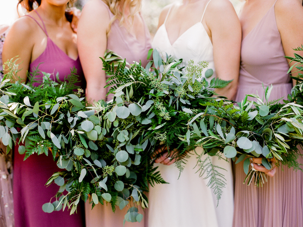 Greenery Bridesmaid Bouquets - Minimal Wedding Winnipeg