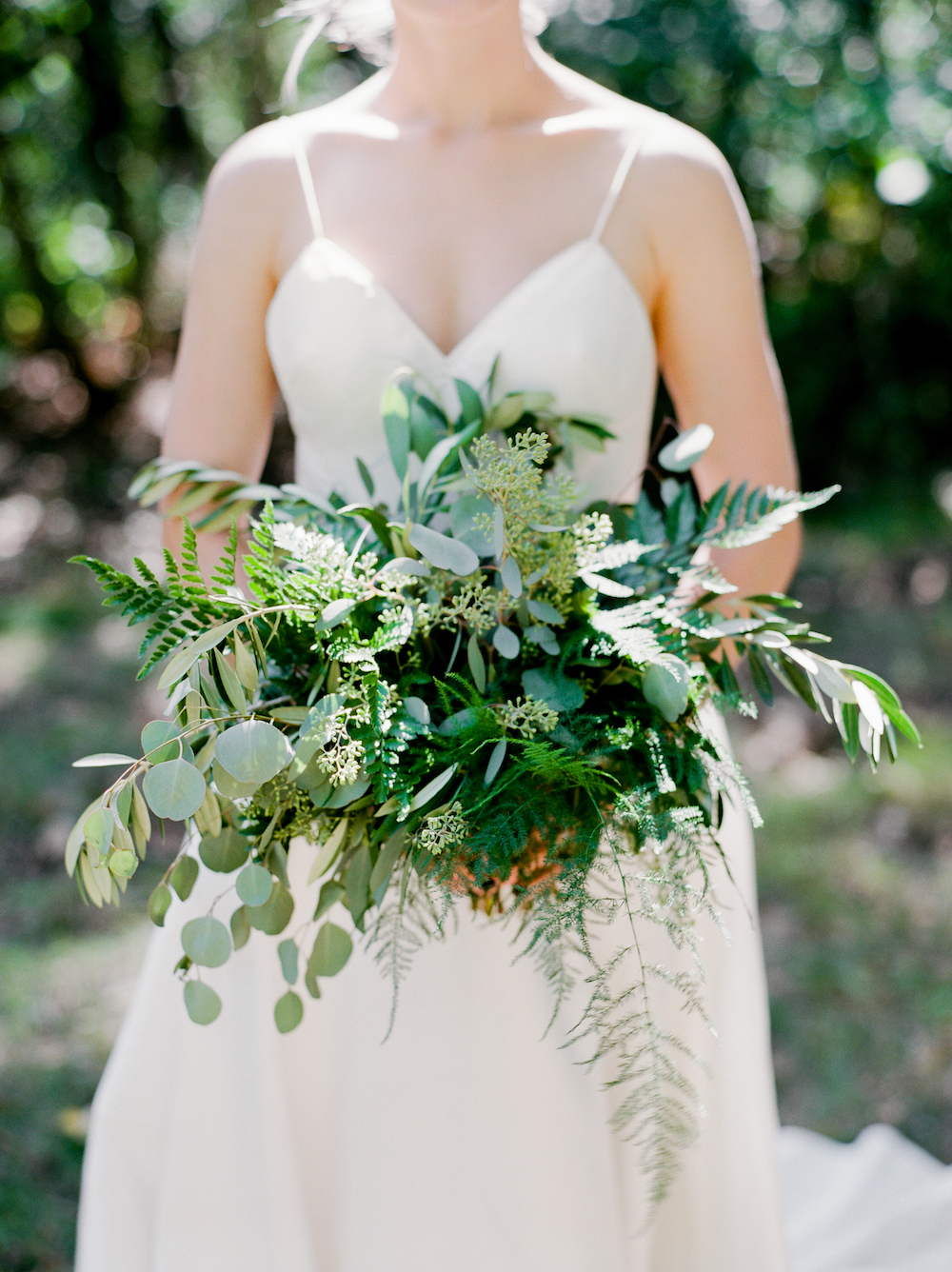 Textured Greenery Wedding Bouquet - Winnipeg Wedding Florists