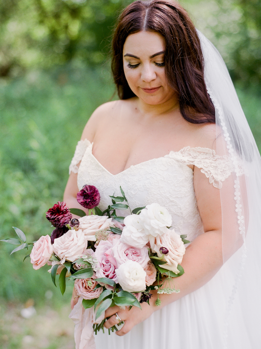 Blush and Plum Wedding flowers - Winnipeg Wedding Florists