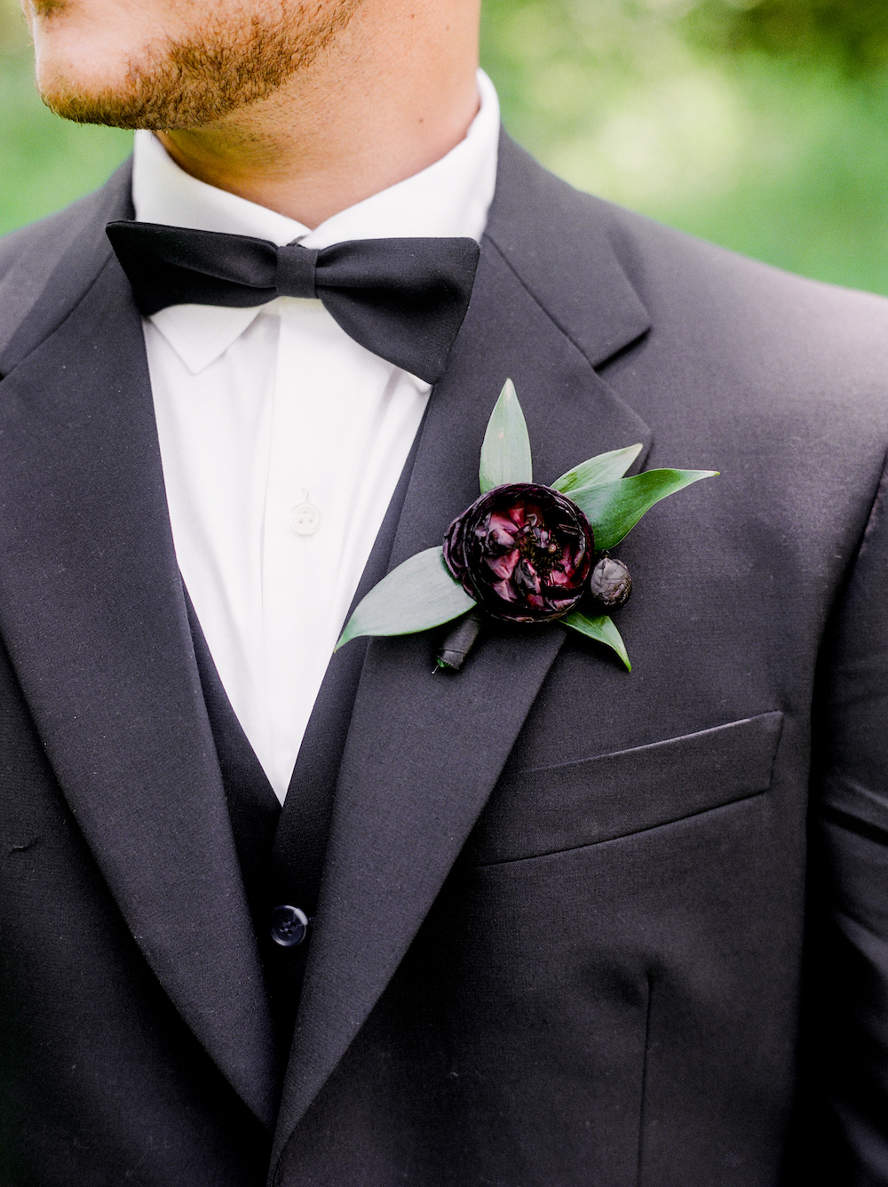 Ranunculus Boutonniere - Garden Wedding Flowers Winnipeg