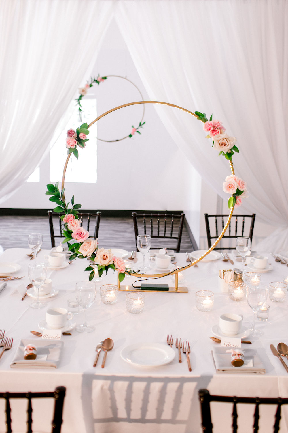 Gold Hoop Wedding Flowers - Wedding Ideas in Winnipeg