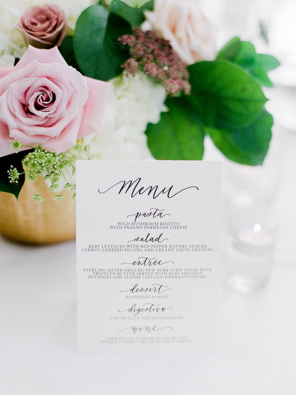 Calligraphy Wedding Decor - Wedding Event Designer in Winnipeg