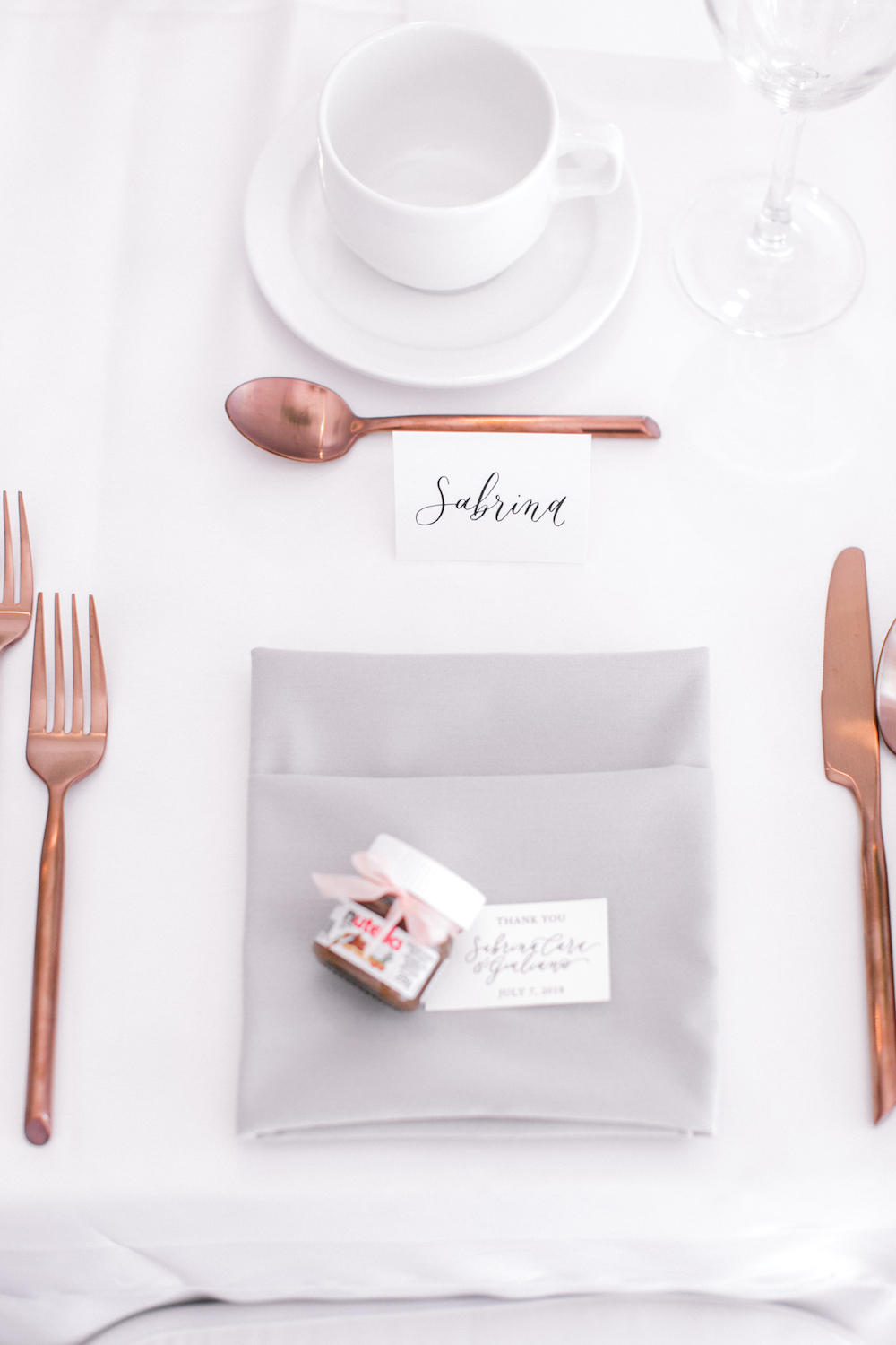 Grey and Rose Gold Wedding Decor - Weddings in Winnipeg