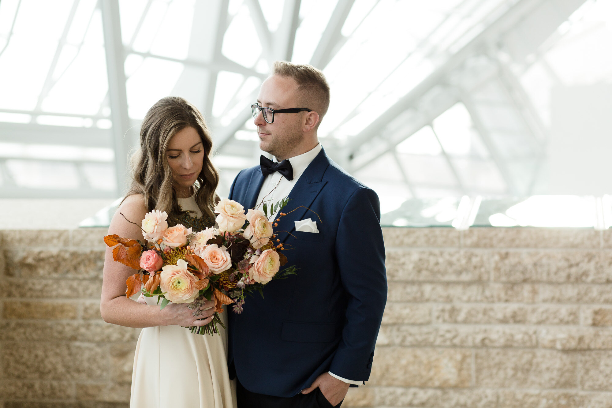 Canadian Museum of human Rights Wedding - Wedding Florists in Winnipeg
