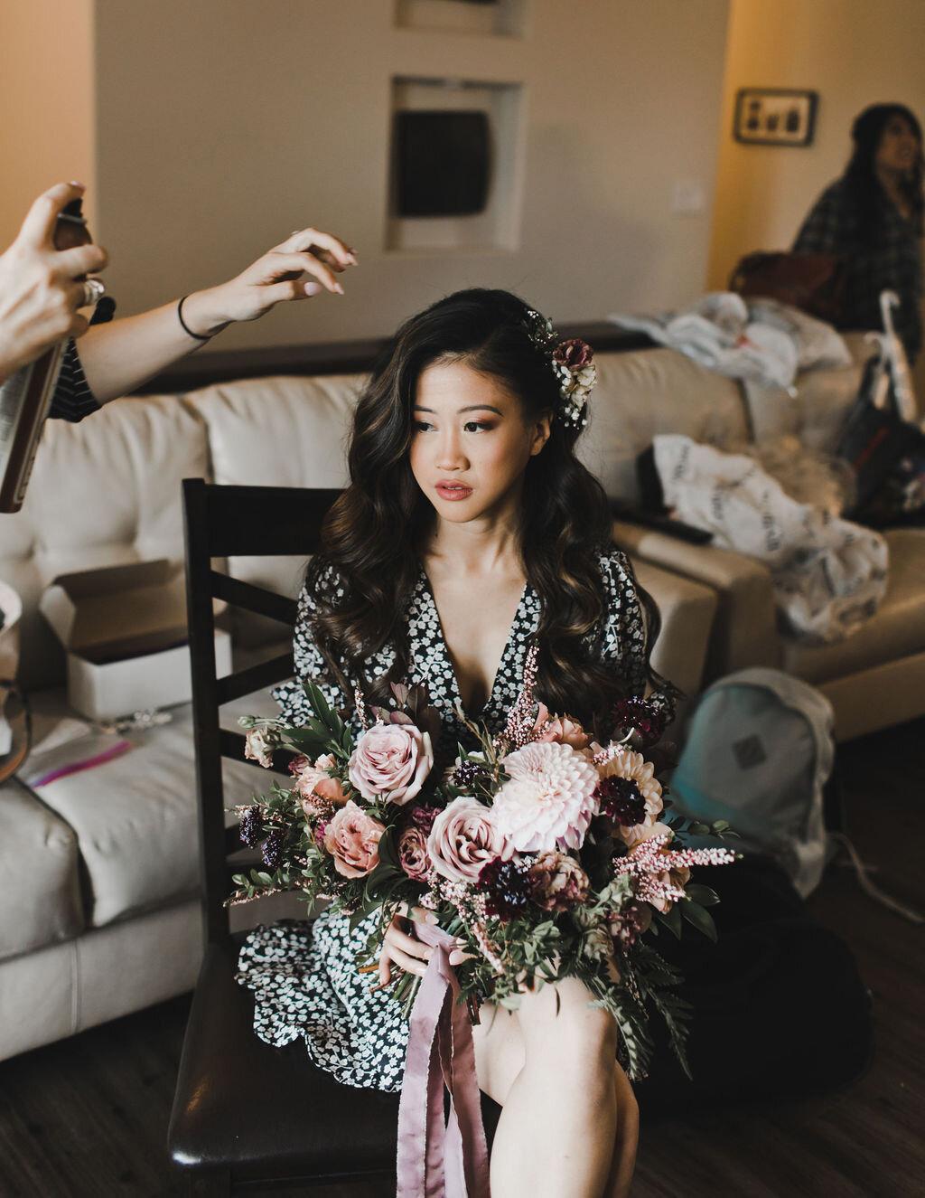 Romantic Mauve Wedding Flowers At Pineridge Hollow Winnipeg Wedding Florist Stone House Creative