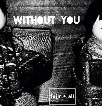 "When ""Without You"" was finally done and we were ready to release it, we realized we needed to make some cover art.  Not sure what the rules are with cover art, but it kinda seems like anything goes, so we took a picture of these Japanese dolls in Fajjr's house and slapped our names in the middle.  Spoiler alert: we ended up not using it.  2015 Fajjr and Ali were so cute and full of ideas. #tbt"
