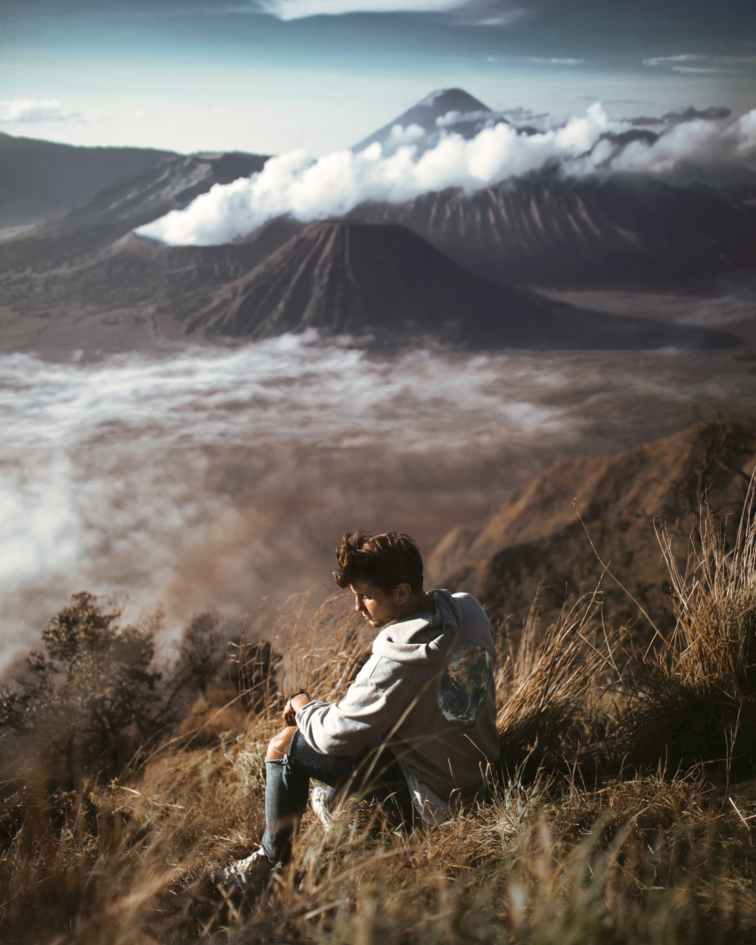 Lost LeBlanc overlooking Mount Bromo, East Java