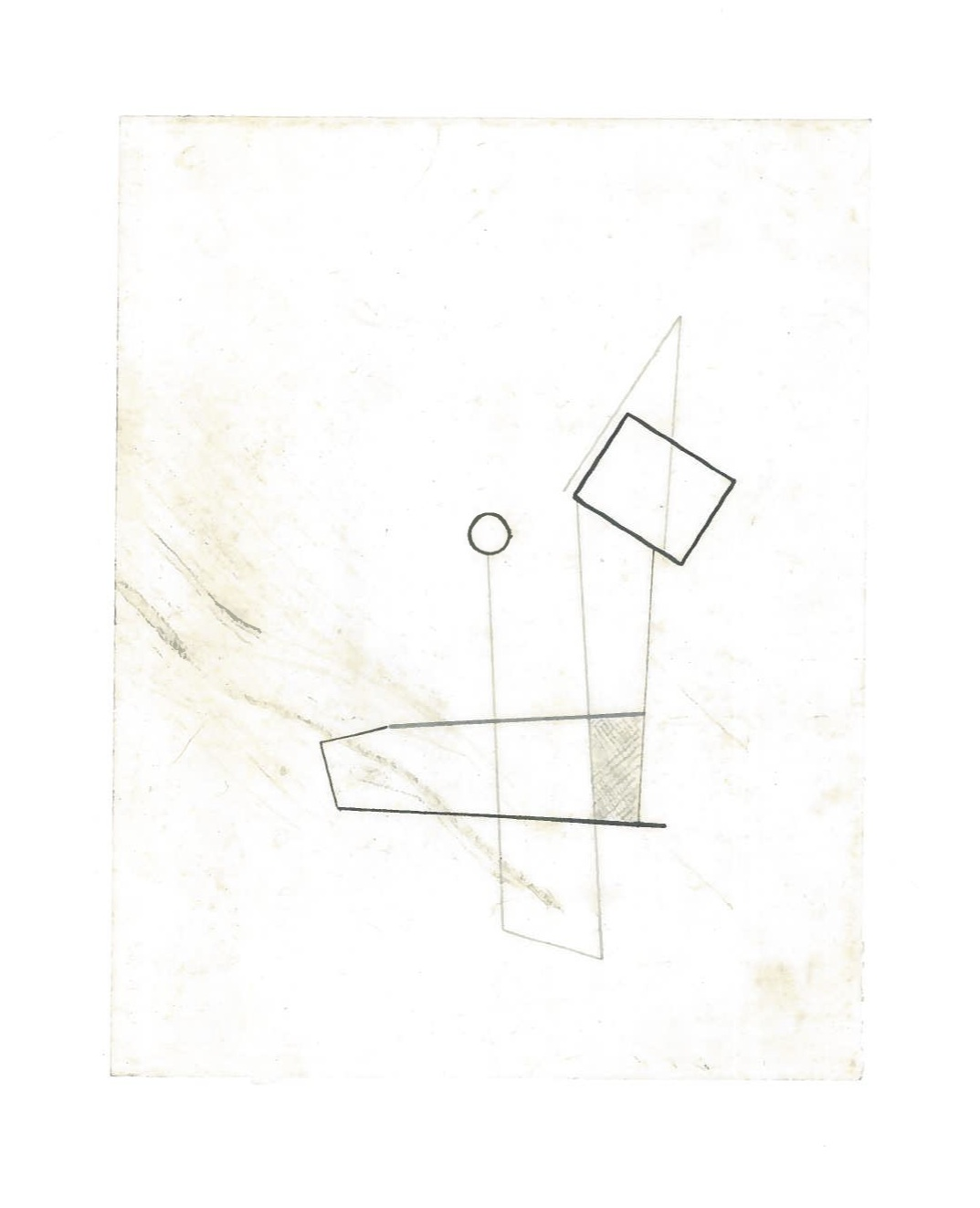 Sequential Architecture (the city, observations 34B)  Pencil on oiled fabriano paper  140mm x 180mm  NY, December 2013