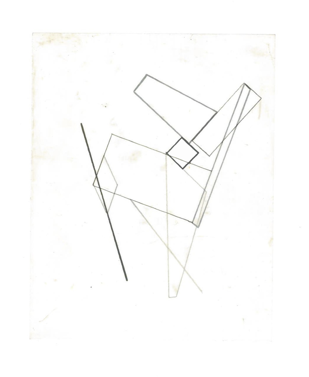 Growth Probabilities (the city, observations 35A)  Pencil on oiled fabriano paper  140mm x 180mm  NY, December 2013