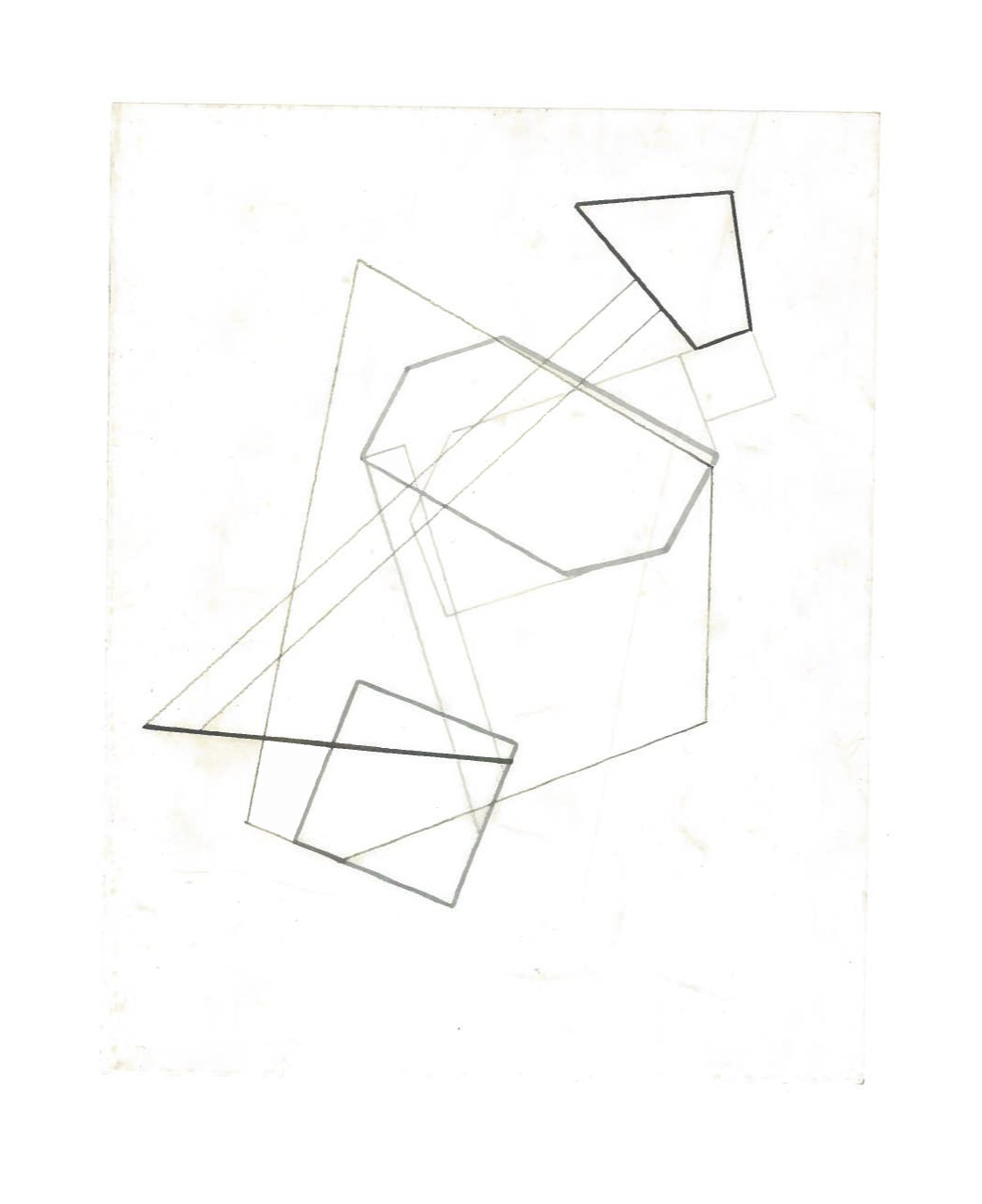Growth Probabilities (the city, observations 36A)  Pencil on oiled fabriano paper  140mm x 180mm  NY, December 2013