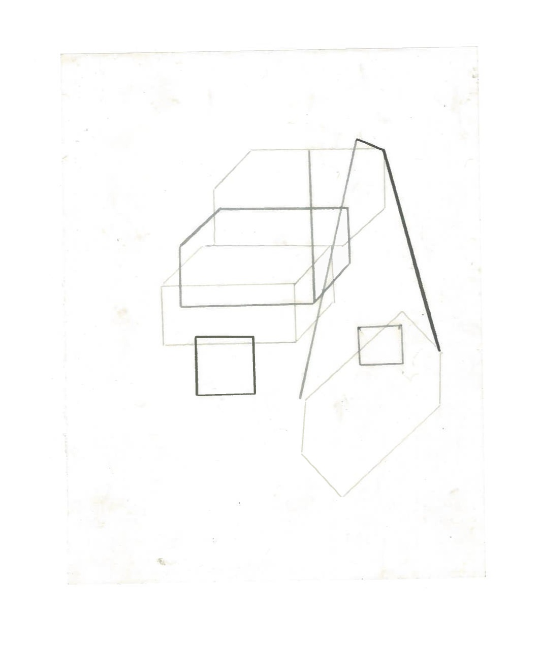 Growth Probabilities (the city, observations 36B)  Pencil on oiled fabriano paper  140mm x 180mm  NY, December 2013