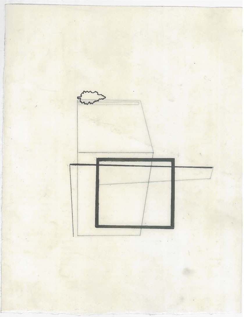 Architecture in transit (the city, observations 26A)  Pencil on oiled fabriano paper  140mm x 180mm  December 2013