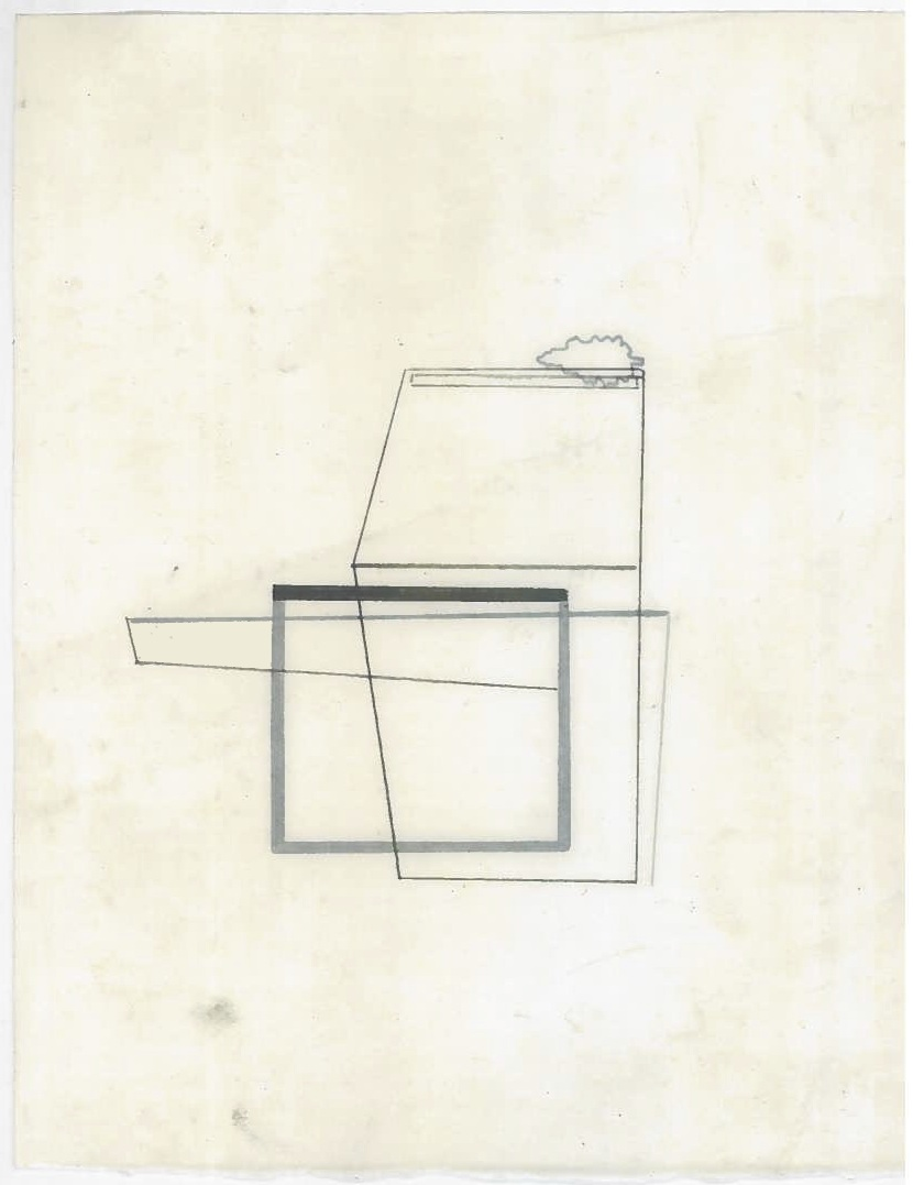 Architecture in transit (the city, observations 26B)  Pencil on oiled fabriano paper  140mm x 180mm  December 2013